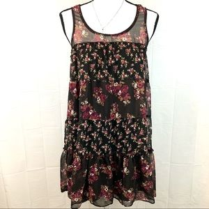 Anthropologie Floral Boho Layered Dress Size Small